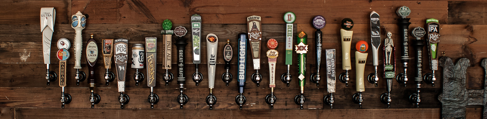 We have 27 different types of beer on tap.