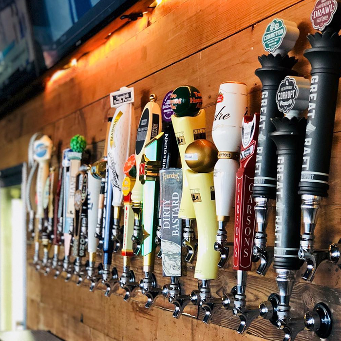 We have a large selection of beers on tap.