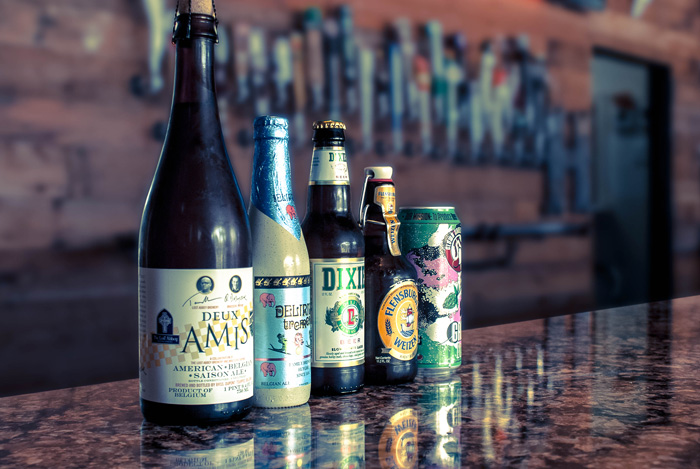 We have a large selection of beer available. On-Tap & Bottled